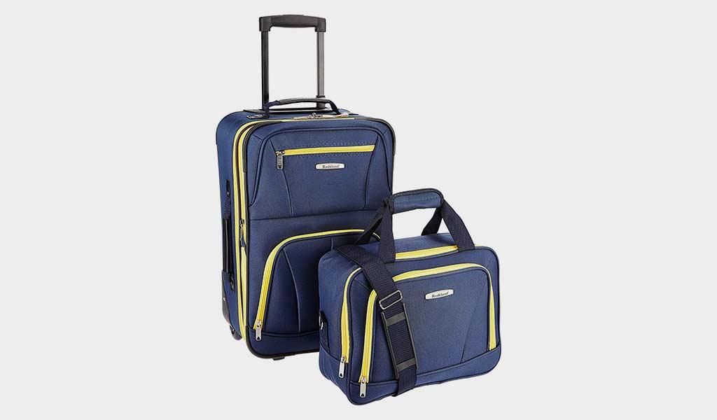 Rockland Luggage 2 Piece Set, Navy