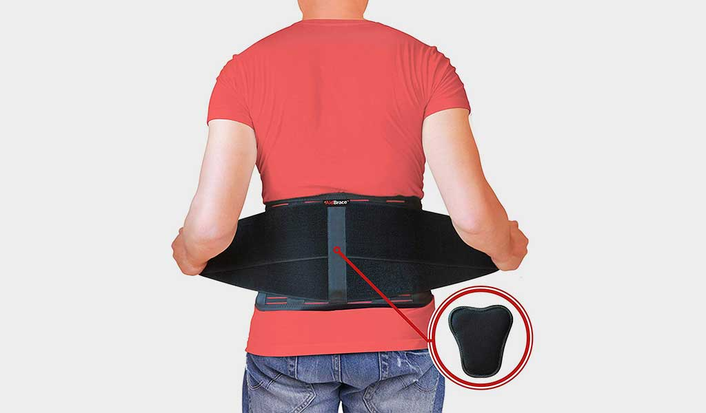 Back Brace support belt by AIDBRACE  Adjustable & Affordable