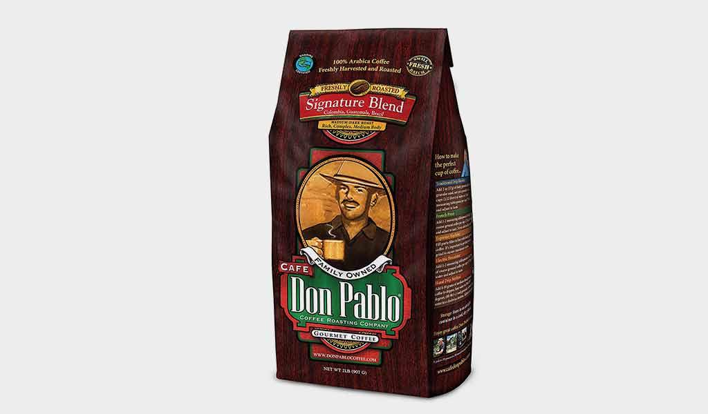 2LB Cafe Don Pablo Gourmet Coffee Signature Blend - Medium-Dark Roast Coffee
