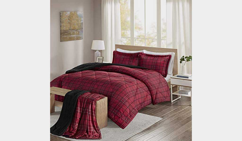 Best Comforter Set King Size - Comfort Spaces Aaron Sherpa