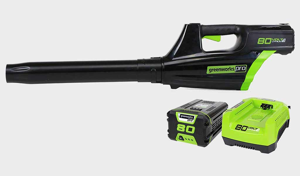 Greenworks Pro Cordless Brushless Axial Blower with 80V Battery