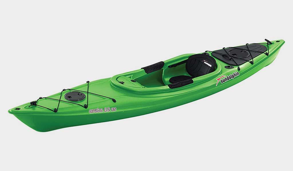 SUNDOLPHIN Sun Dolphin Aruba SS 12-Foot Sit-in Best Fishing Kayak