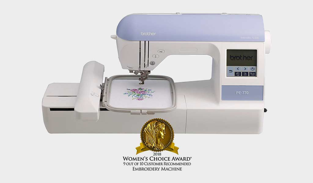 Brother Embroidery Machine PE770 With Built-In Memory