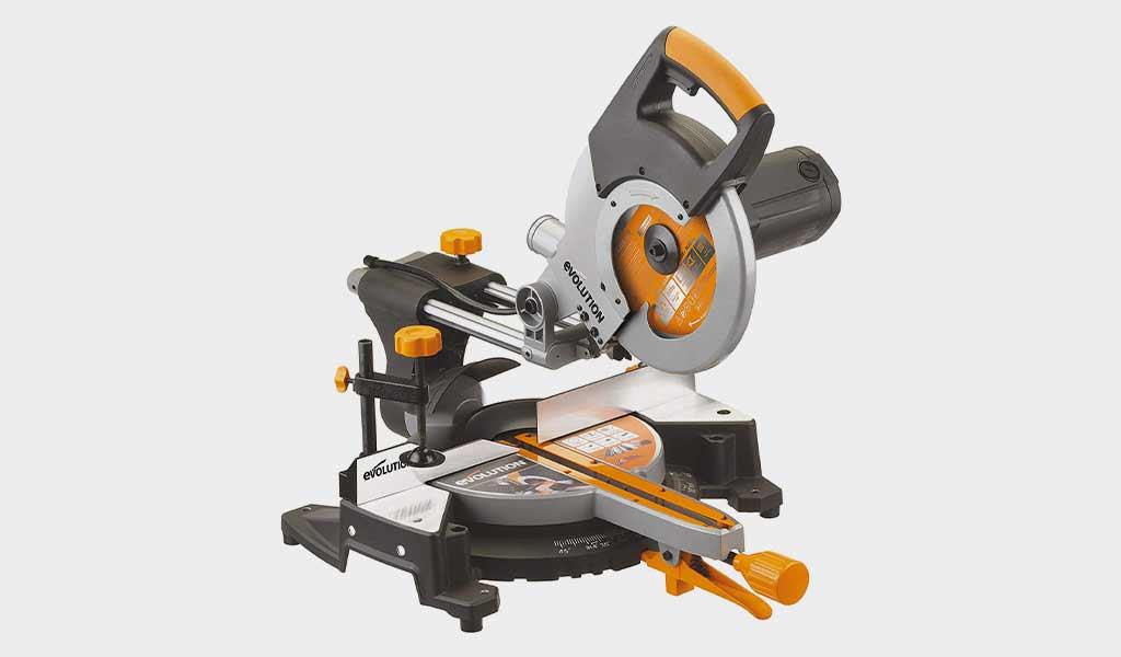 Evolution Power Tools RAGE3-Compound Sliding Miter Saw- 10 Inch- Multitask Cutting