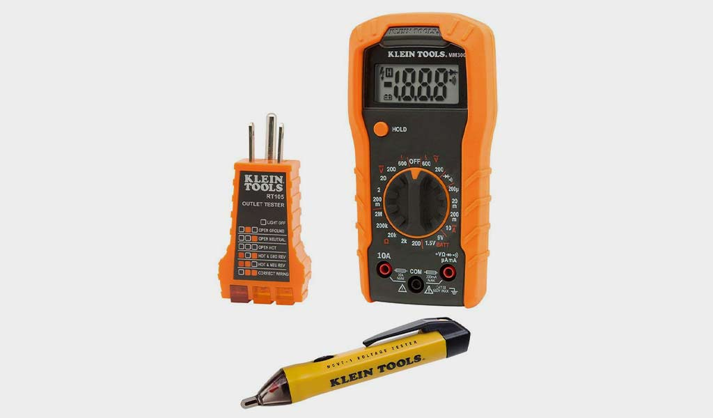 Klein Tools 69149 Electrical Test Kit with the Klein MM300 Multimeter