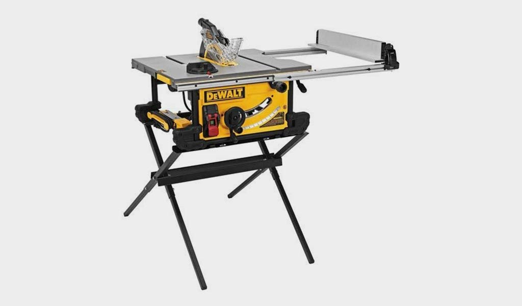 DEWALT 10-Inch Portable Table Saw with Scissor Stand