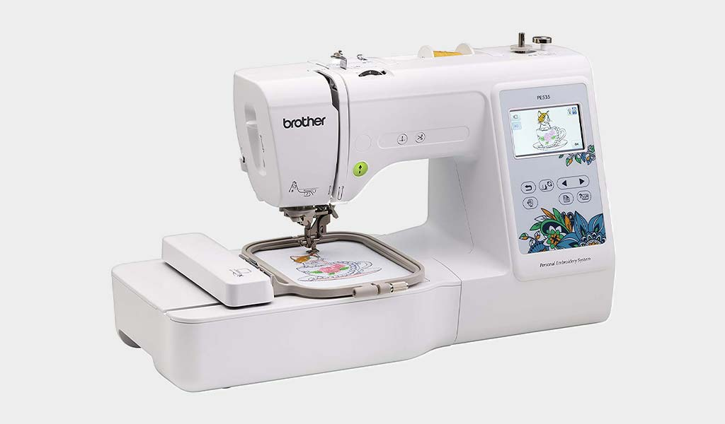 Brother Embroidery Machine PE535 Touch Screen Display