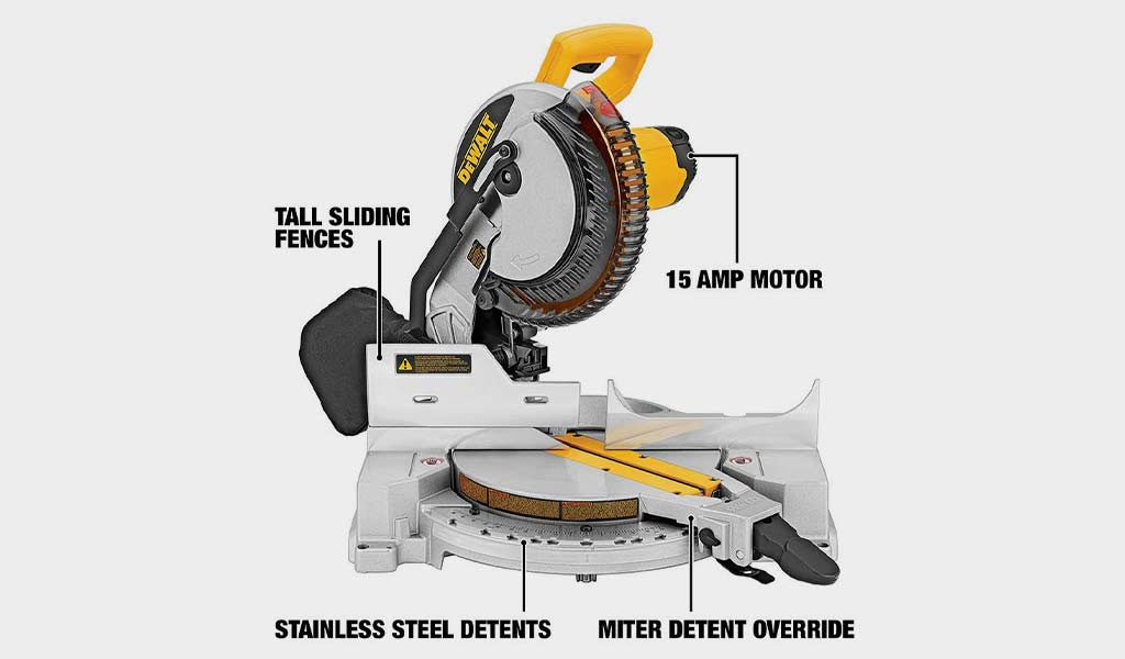 10 Inch DEWALT DW713- Portable Compound Miter Saw