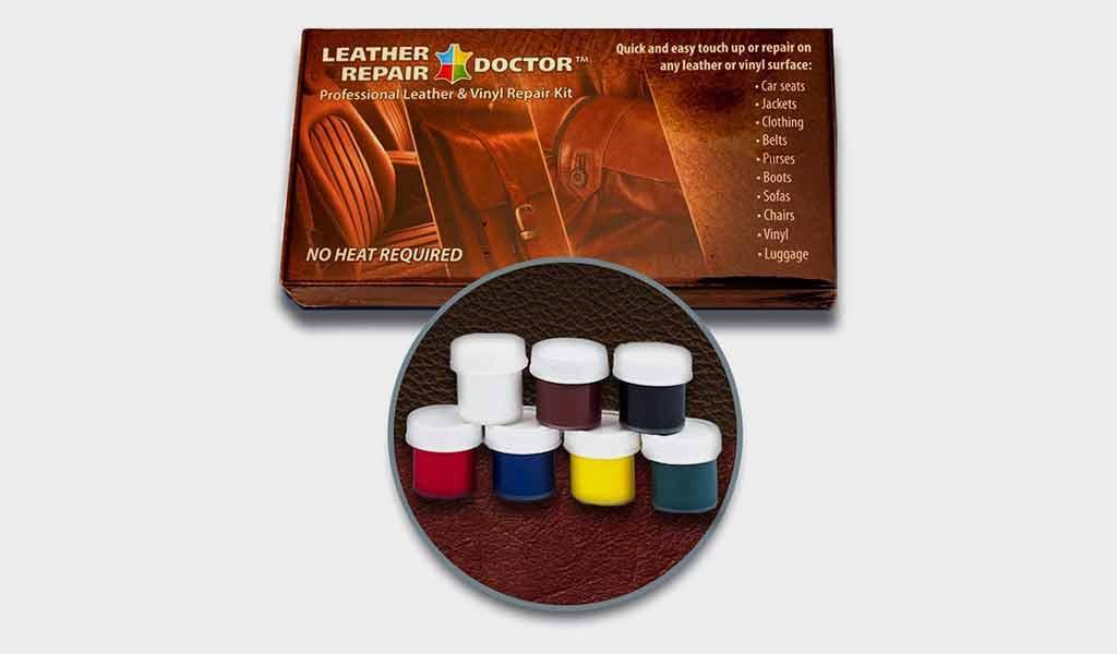 Leather Repair Doctor Complete DIY Kit - Premixed Glue & Paint