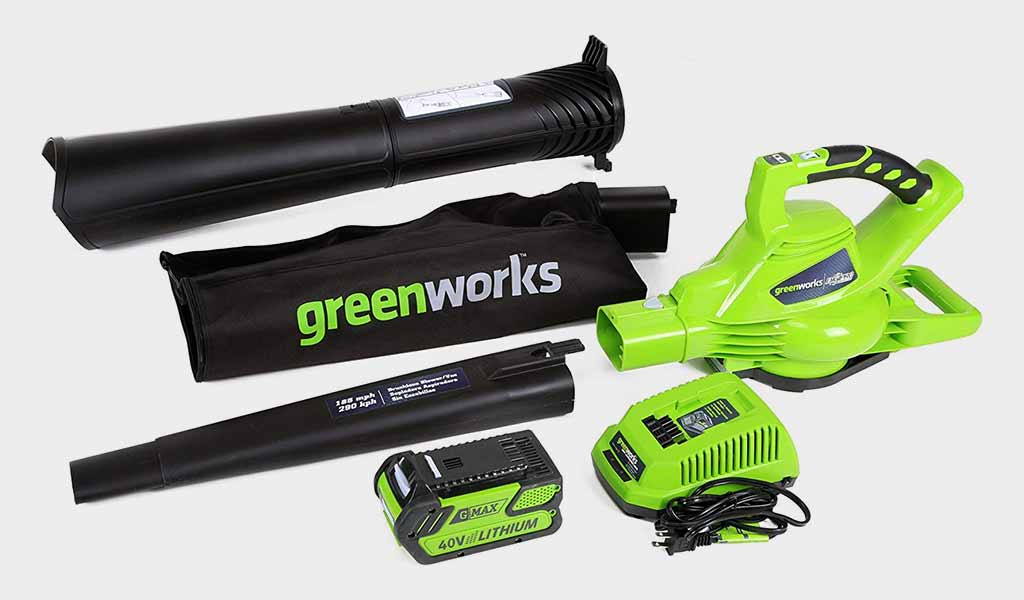Greenworks 185 MPH Cordless Blower Vacuum with Variable Speed