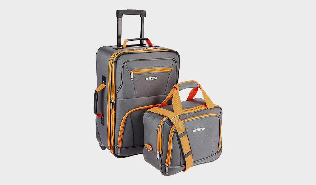 Rockland Luggage 2 Piece Set, Charcoal