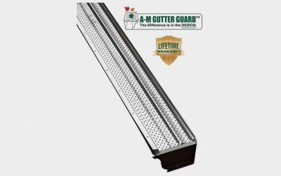 """A-M Aluminum Gutter Guard 6"""""""