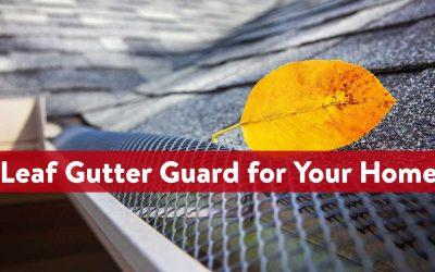 Best Leaf Gutter Guard for Your Home