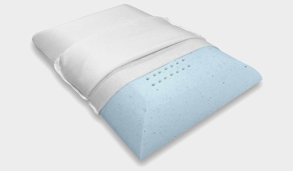 Blue wave Bedding Ultra Slim Gel Memory Foam Pillow