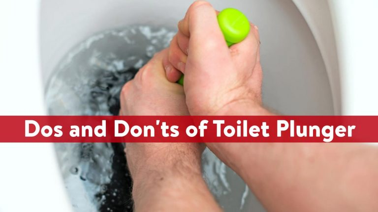Dos and Don'ts of Toilet Plunger