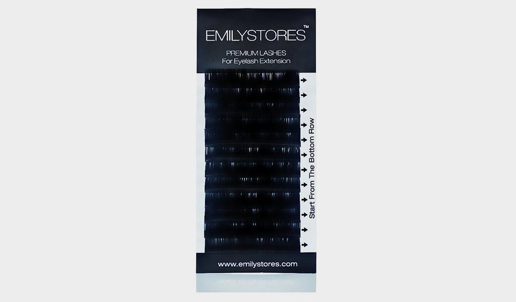 EMILYSTORES Eyelash Extensions Individual Loose Signature Mink Eyelash C Curl Thickness 0.15mm