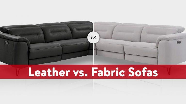 Fabric vs. Leather Sofas