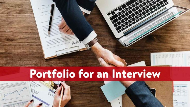 What Should you have in a Portfolio for an Interview