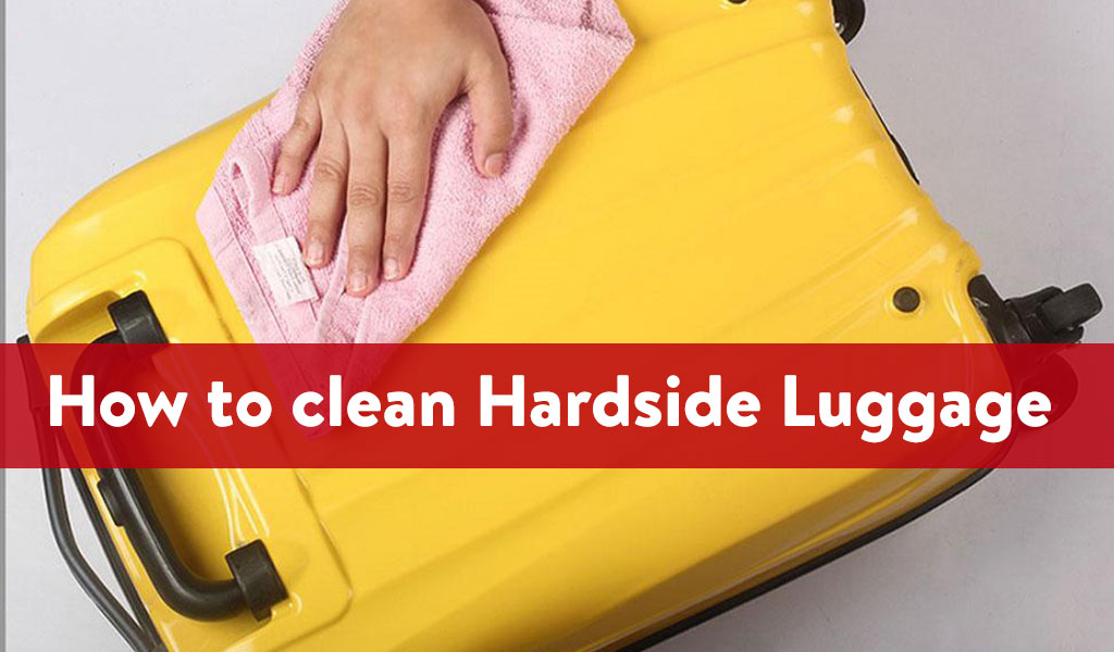 clean hardside luggage